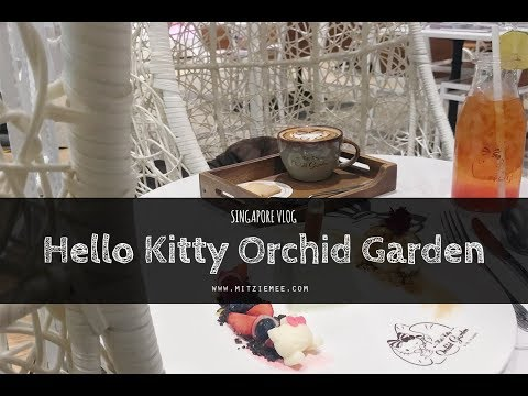 Hello Kitty Orchid Garden Café At Changi Airport - Singapore Vlog