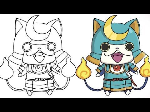 Coloriage Yo Kai Watch Komasan