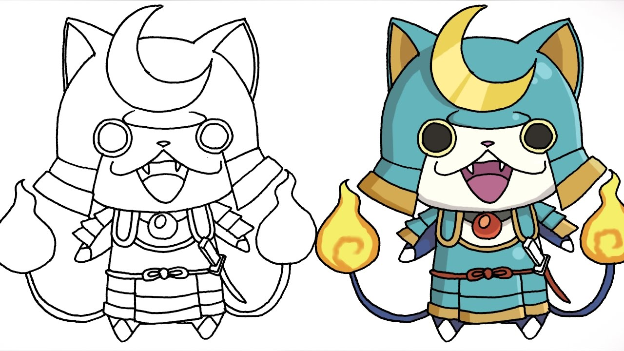 How To Draw Shogunyan Yo Kai Watch Characters Step By Step Youtube