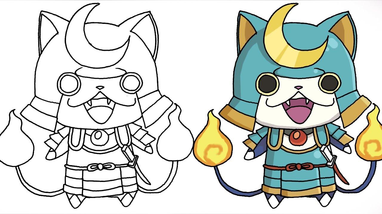 how to draw shogunyan (yokai watch) characters step
