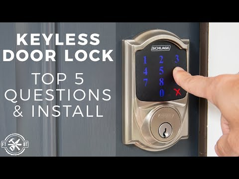 Keyless Door Lock Install & Top 5 Questions | Schlage Connect