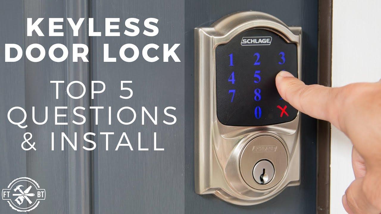 Keyless Door Lock Install Top 5 Questions Schlage Connect Youtube