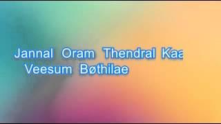 Kannala Kannala Thani Oruvan Karaoke With Lyrics