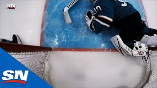 After Review Jake Virtanen Is Credited With A Good Goal Against Aaron Dell