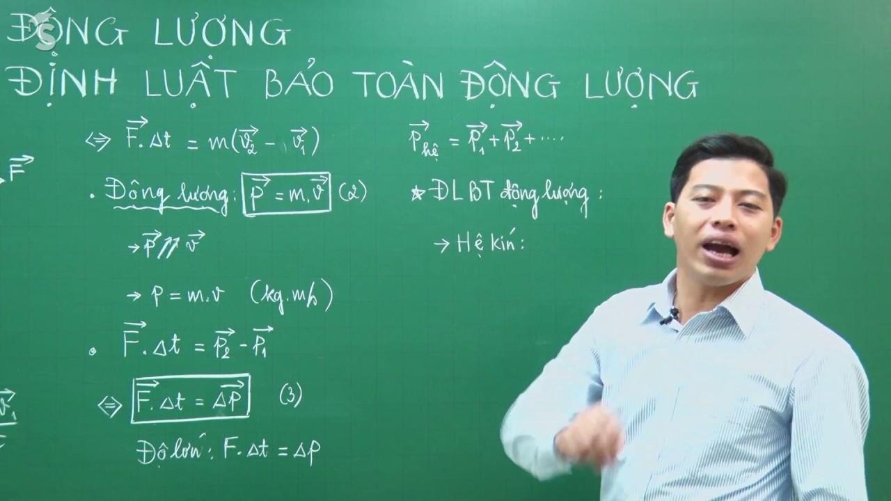 Động lượng và Định luật bảo toàn Động lượng – Vật lý 10 – Thầy Phạm Quốc Toản