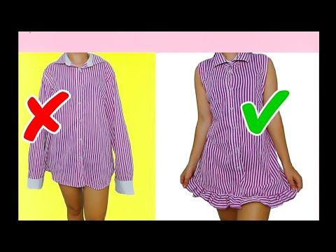 Como Transformar Camisa Social Em Vestido Passo A Passo