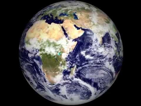 Planeta Tierra girando desde el espacio (Earth Space