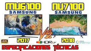 MU6100 Vs NU7100 Cuál es mejor tv Samsung 4k HDR? Especificaciones técnicas MU NU