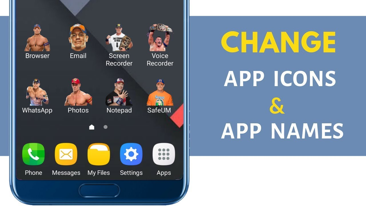 How to Change app icons on any Android phone - YouTube