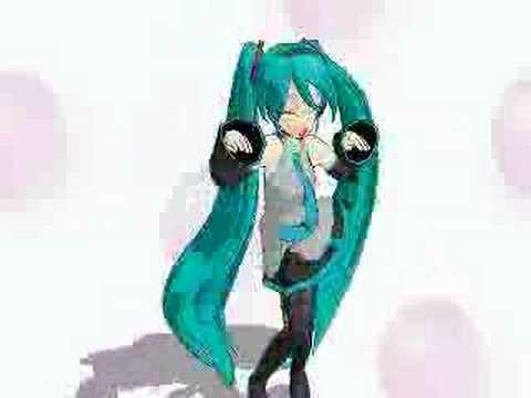 Hatsune Miku singing Caramelldansen Remix ウッーウッーウマウマ(゚∀゚)