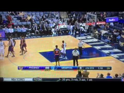 2817 Memphis Grizzlies vs Phoenix Suns  Troy Daniels vs Alan Williams NBA FIGHT!!!