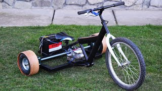 Electric Homemade DRIFT TRIKE / 800W / Electric Trike From Scrap