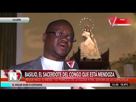 Basilio, el curo congoleño que predica en Mendoza