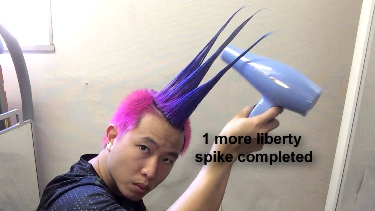 How To Do A Mohawk Liberty Spike Youtube