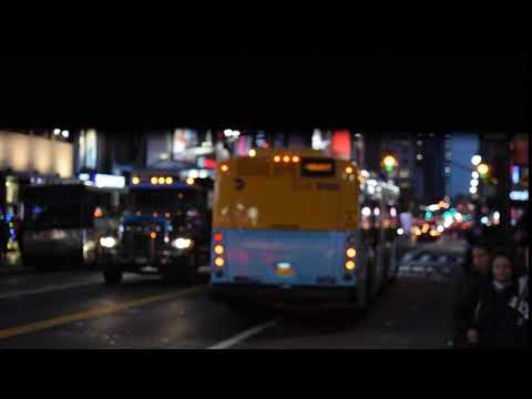 NEW! Javits Center-bound XD60 (6104) M34 +SBS bus leaving 34th Street/6th Avenue