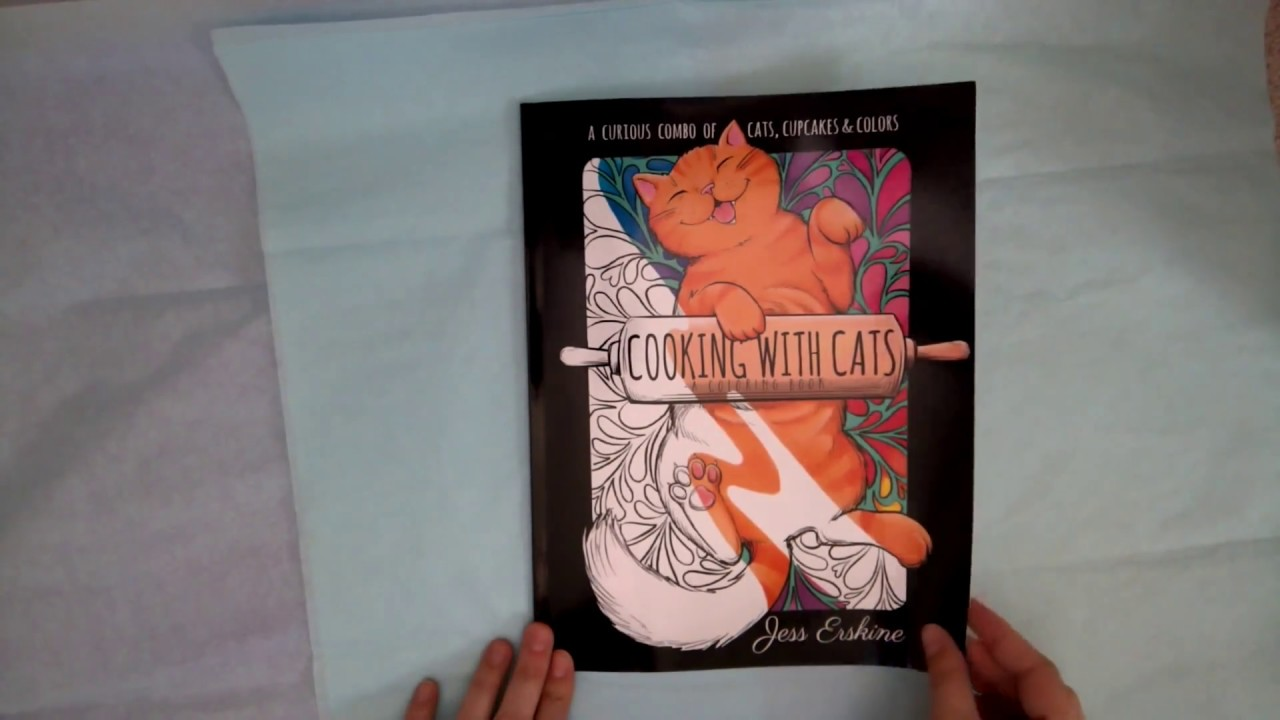 - Cooking With Cats Coloring Book Flip Through - YouTube