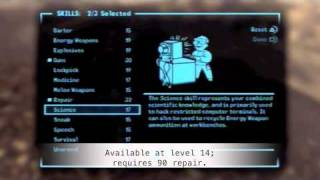 Fallout: New Vegas Character Creation Tutorial Part 1 -- Sniper Build