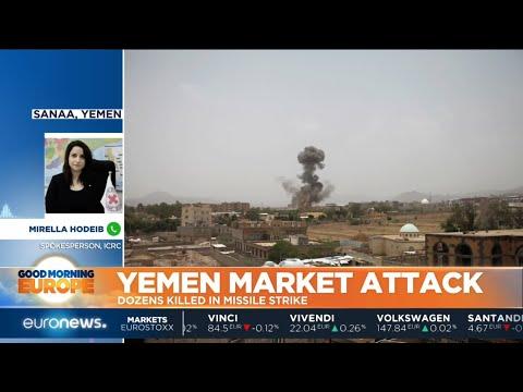 #GME   A Saudi-led coalition air strike in Yemen has killed dozens of civilians