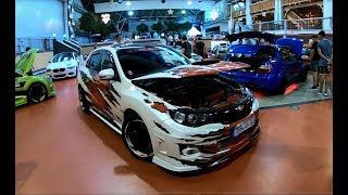 SUBARU IMPREZA WRX STI WRAPPED TUNING SHOWCAR WALKAROUND