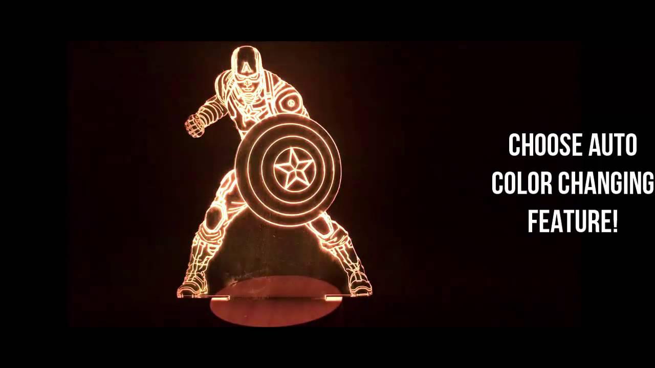Captain America 3D LED LAMP