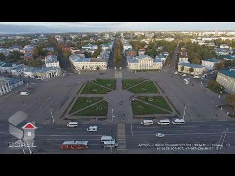 Аэросъемка города Кострома (панорама)