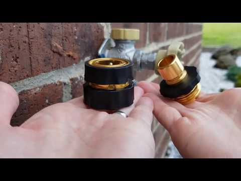 Installing a Garden Hose Quick Connect Set