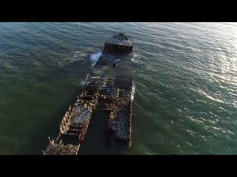 4K Drone Video, SS Palo Alto, January 23, 2018