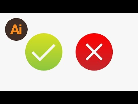 Learn How to Draw Tick & Cross Icons in Adobe Illustrator | Dansky