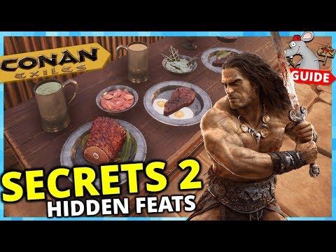 CONAN EXILES PS4 SECRETS 2 - All Food Brewing Recipe Locations