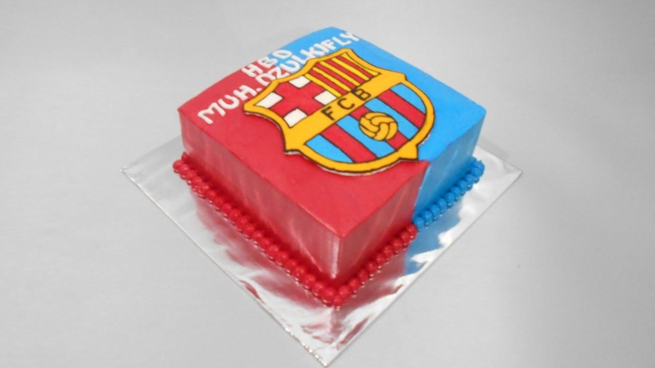 Barcelona Fc Birthday Cake Easy Youtube