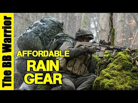 A Guide to Affordable Rain Gear for Airsoft