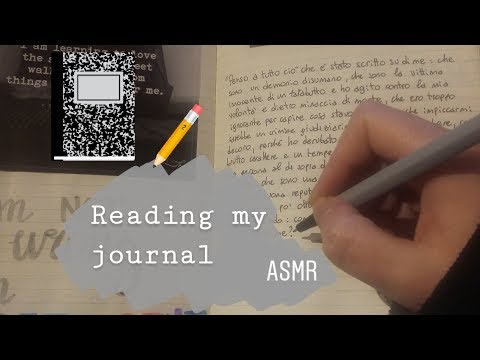 ASMR ITA- Leggo parole importanti dal mio quaderno (whispering, tapping & page sounds)   Noor