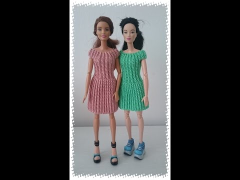 Как связать платье кукле крючком для начинающих