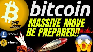 MASSIVE MOVE COMING ARE YOU READY !? BITCOIN LITECOIN ETHEREUM & DOW price  analysis, news, trading