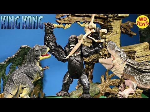 New King Kong Skull Island Playset Playmates Kong Vs Godzilla The 8TH Wonder Of The World Unboxing