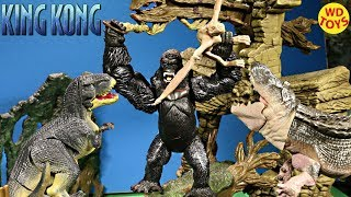 New King Kong Skull Island Playset Playmates Kong Vs Godzilla The 8TH Wonder Of The World Unboxing