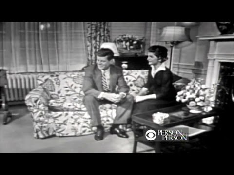 John and Jacqueline Kennedy speak to CBS  in 1953