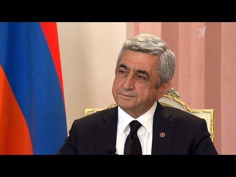 Гость Серж Саргсян. Познер. Выпуск от 27.04.2015