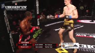 Chosen Few Fighting Championship Ben Schauer vs Rodney Yapi