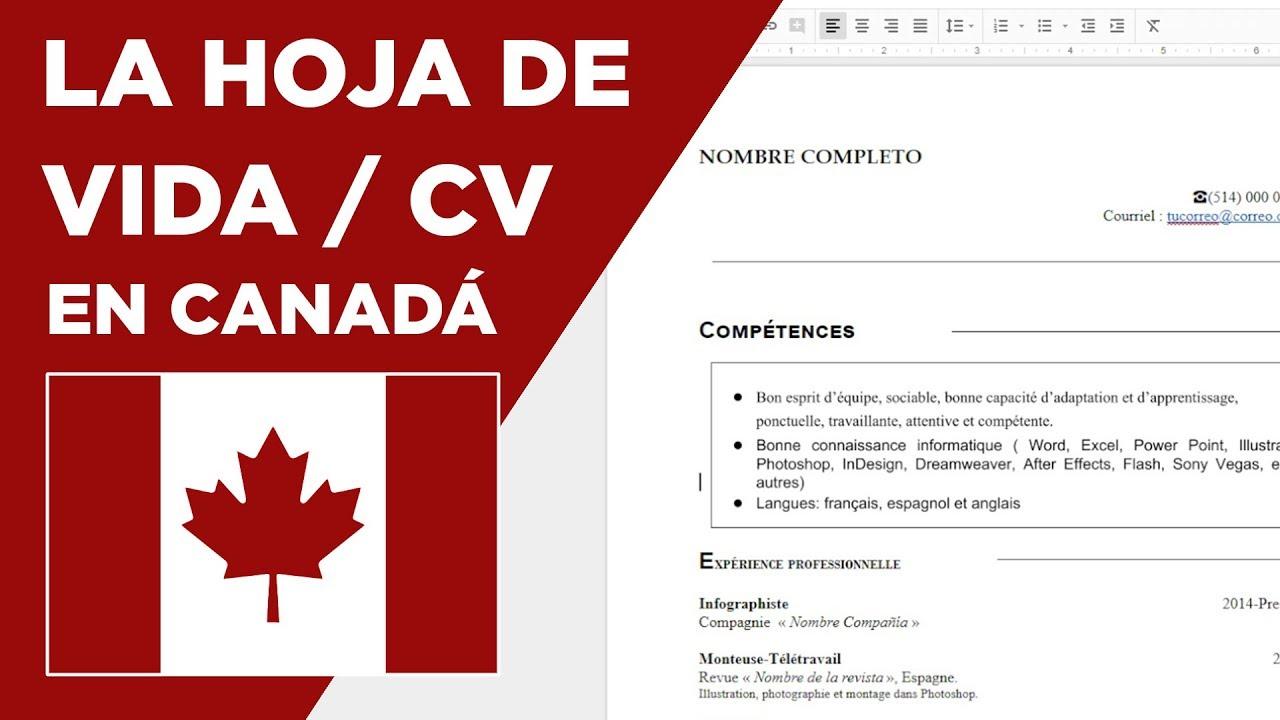 Cómo hacer la hoja de vida en Canadá / CV - Tips - YouTube