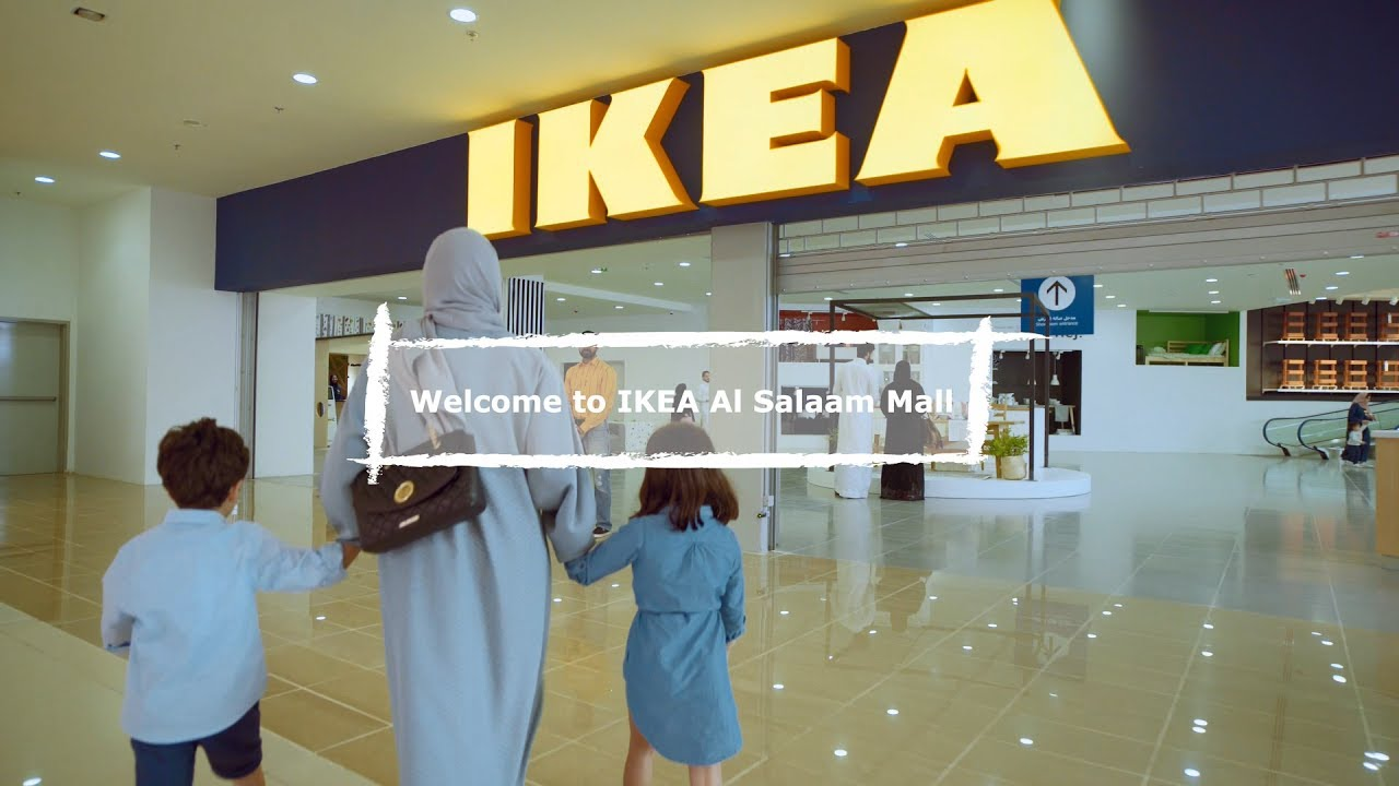 ikea jeddah al salaam mall store youtube. Black Bedroom Furniture Sets. Home Design Ideas