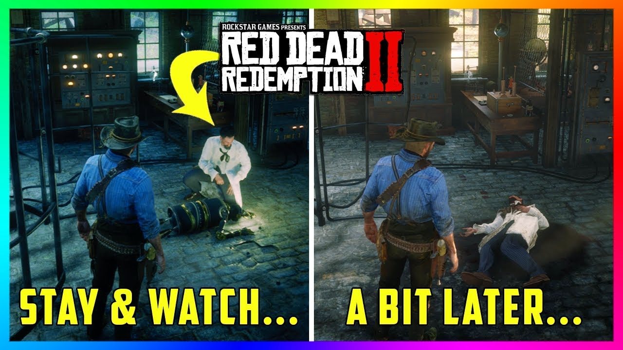 Can You Watch The Robot Kill Marko Dragic If You Wait At His Lab In Red Dead Redemption 2? (RDR2)