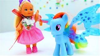 Видео про куклы: куколка Штеффи в стране фантазий