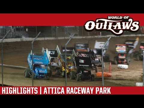 World of Outlaws Craftsman Sprint Cars Attica Raceway Park July 12th, 2016 | HIGHLIGHTS
