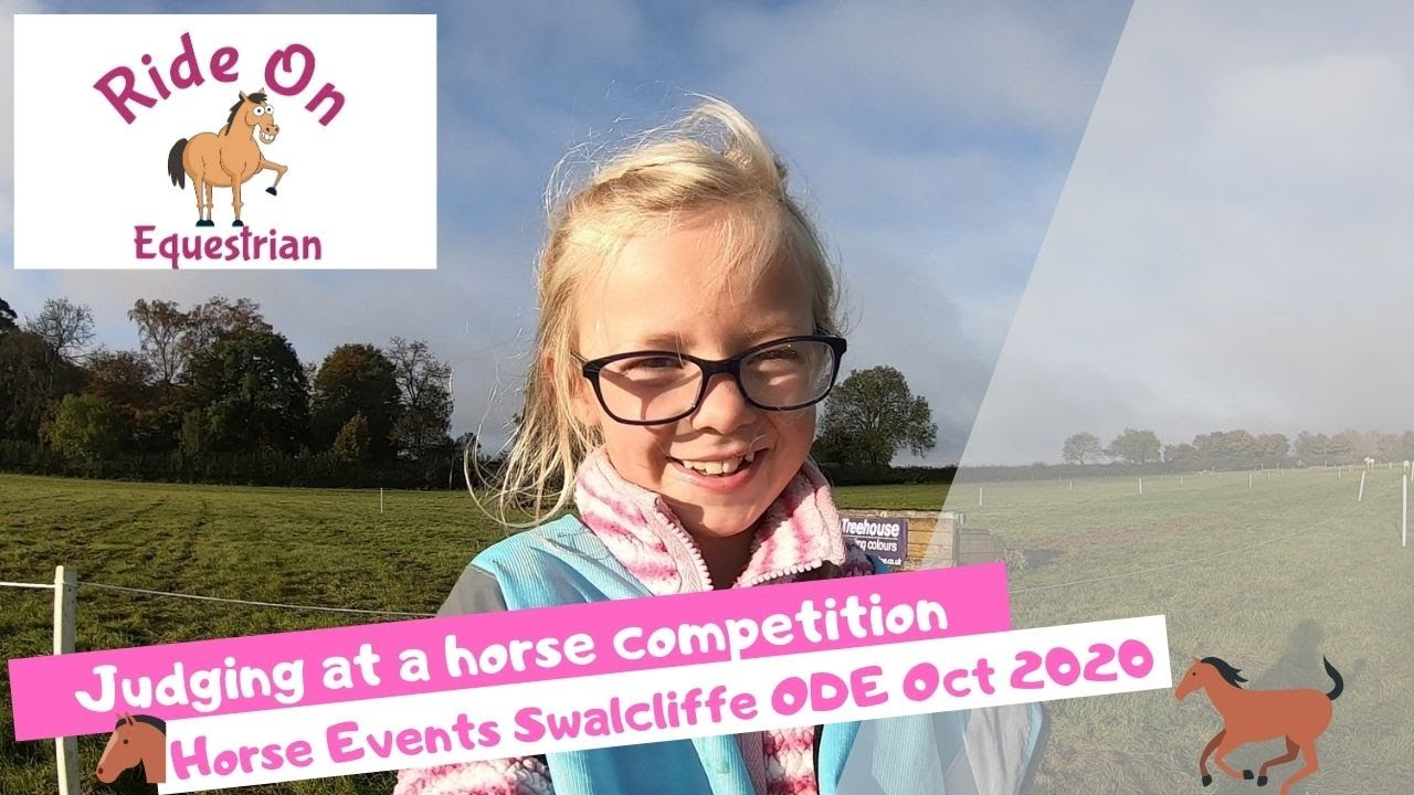 Judging at a Horse Competition, Horse events ODE Swalcliffe Oct 2020