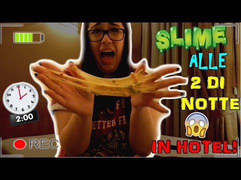 SLIME IN HOTEL ALLE 2 DI NOTTE DA SOLA! Iolanda Sweets