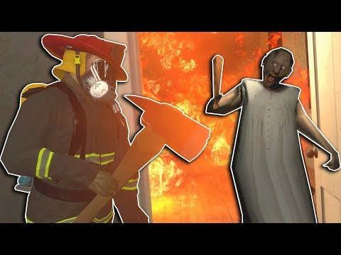 SAVING GRANNY FROM A FIRE! - Garry's Mod Multiplayer Gameplay - Firefighter Survival thumbnail