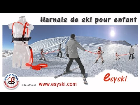 harnais de ski pour enfant esyski youtube. Black Bedroom Furniture Sets. Home Design Ideas