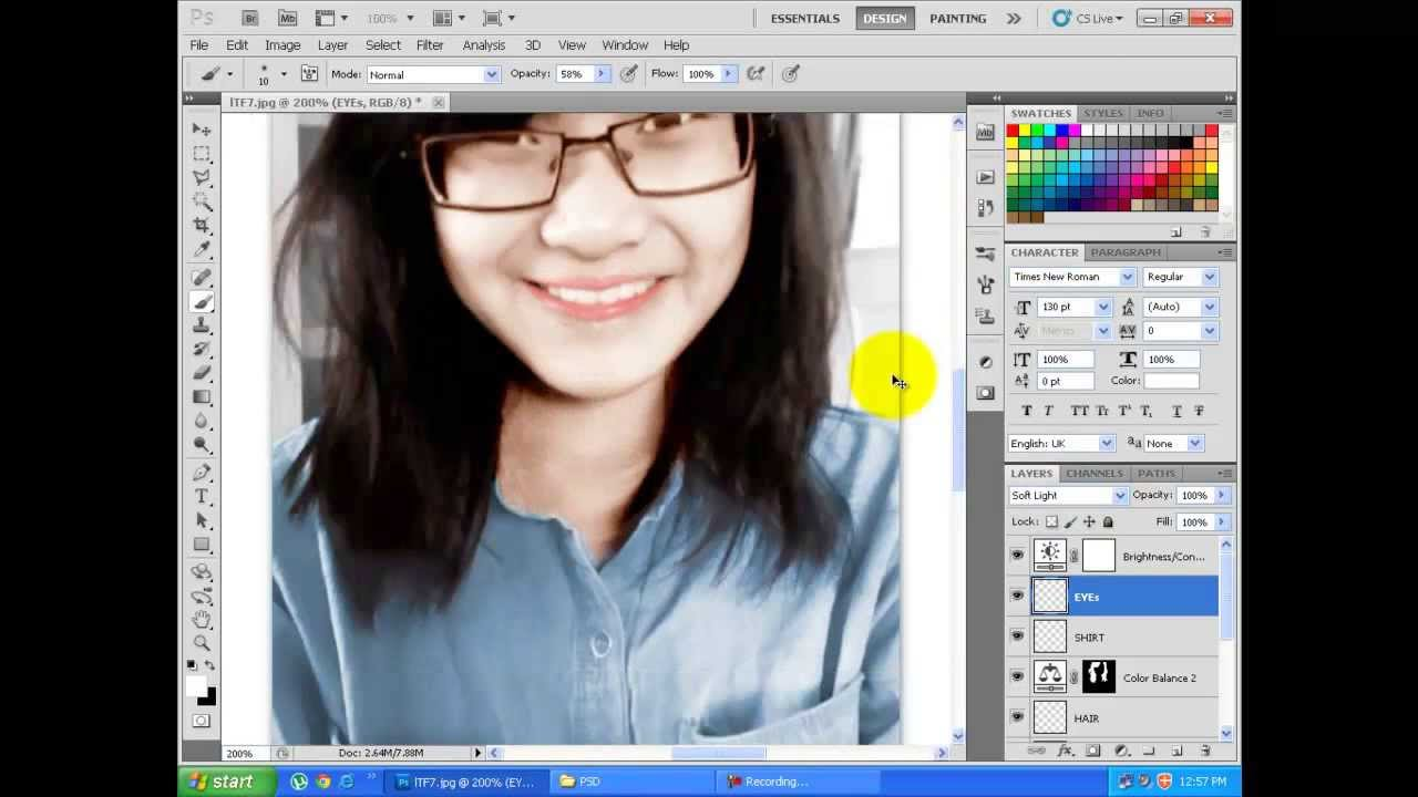 Convert black and white photo to color photoshop cs5 youtube for Convert photo to coloring page photoshop
