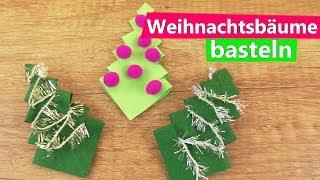 DIY Weihnachtsbäume | Super einfache Anleitung | Basteln mit Kindern | Advents DIY Idee